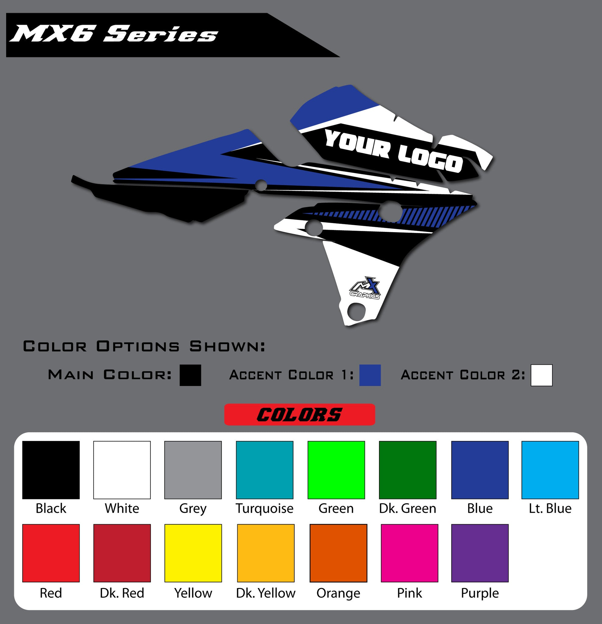 Yamaha MX6 Shroud Graphics