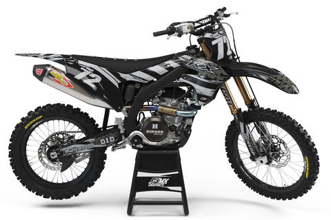 Kawasaki MX6 Black Graphic Kit