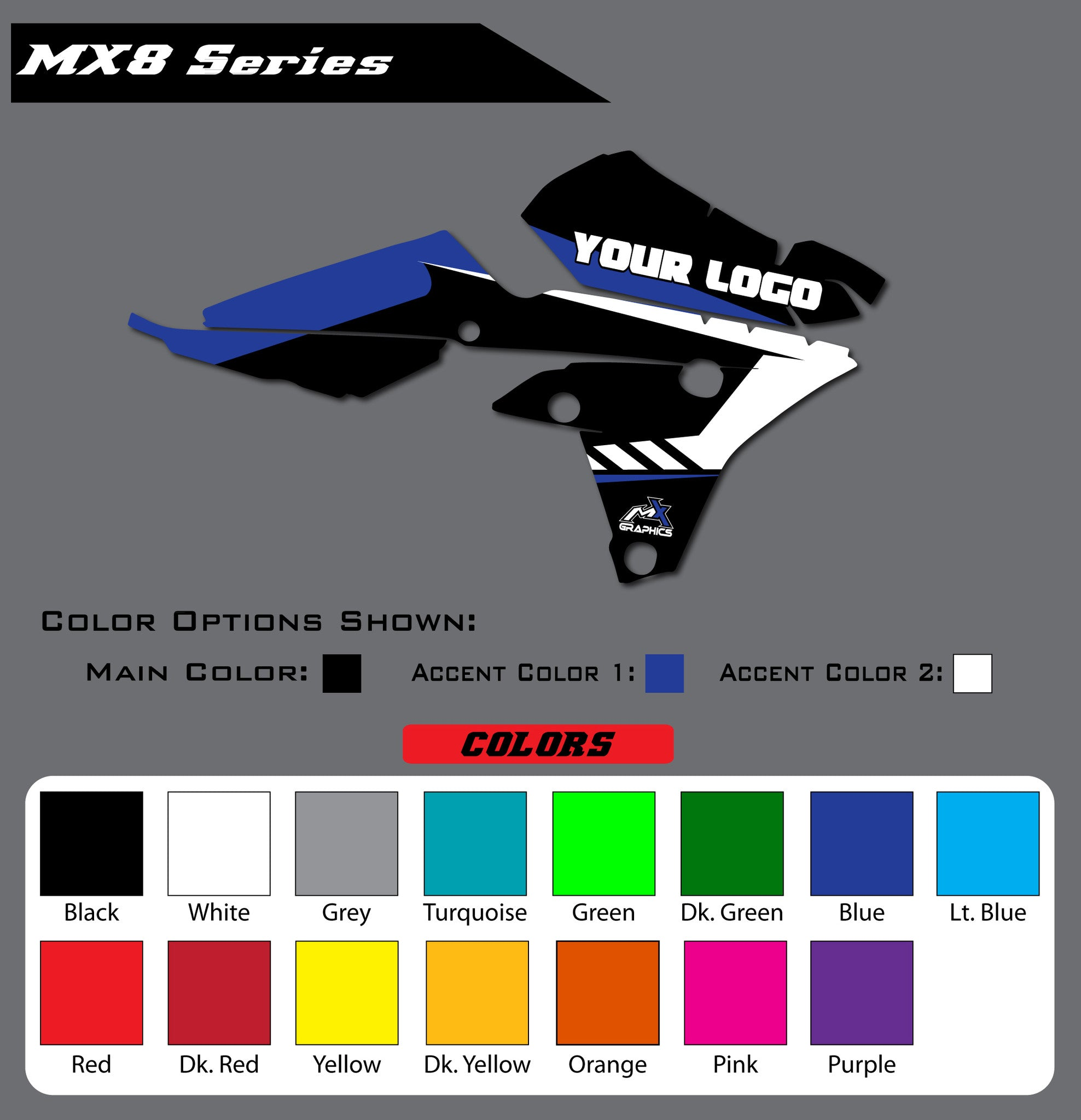 Yamaha MX8 Shroud Graphics