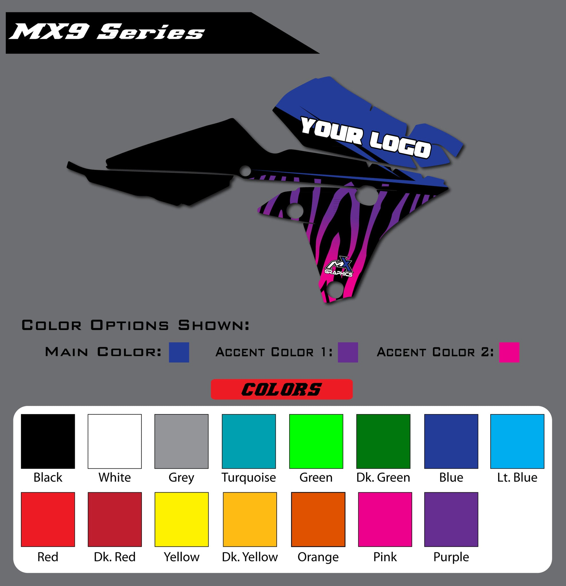 Yamaha MX9 Shroud Graphics