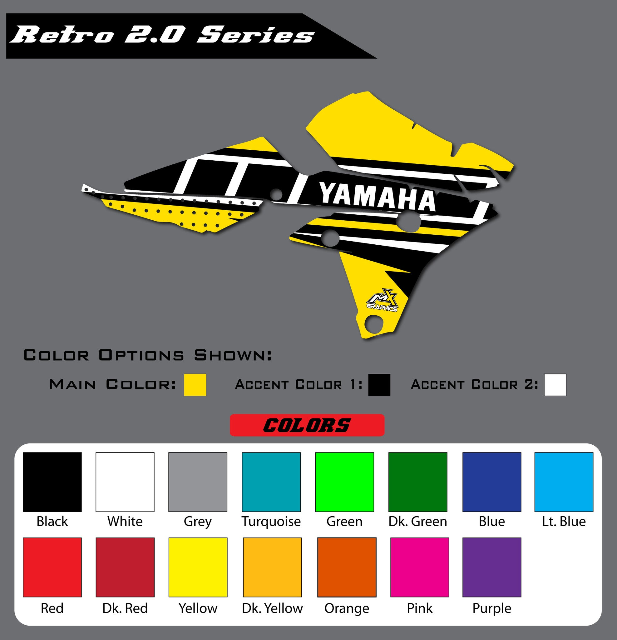 Yamaha Retro 2.0 Shroud Graphics