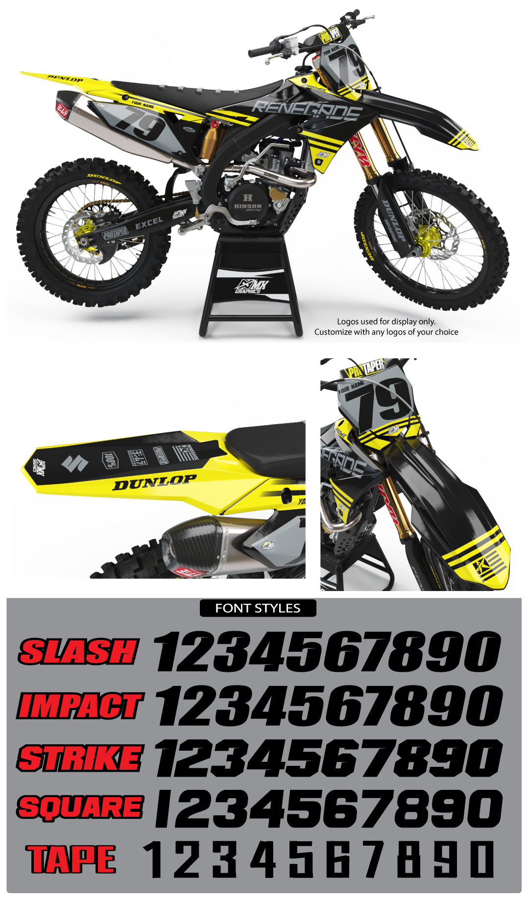 Suzuki MX 3 Graphic Kit
