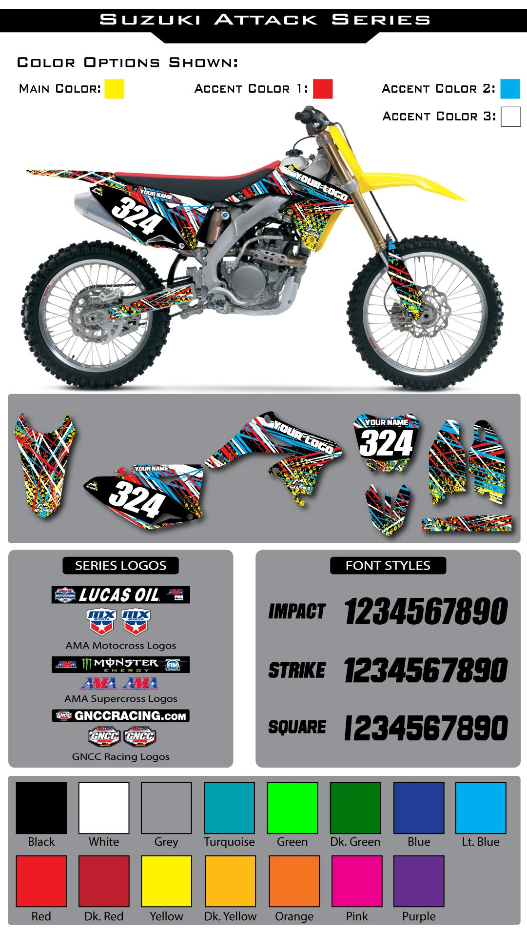 Suzuki Attack Graphic Kit