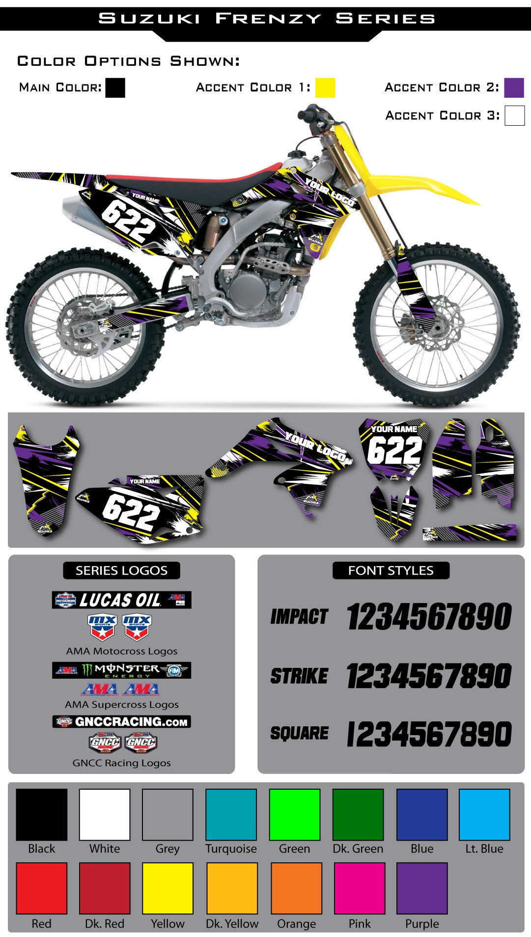 Suzuki Frenzy Graphic Kit