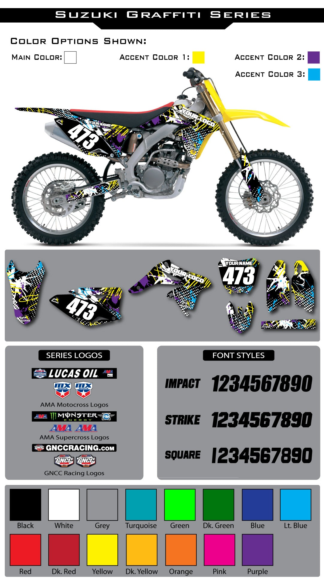 Suzuki Graffiti Graphic Kit