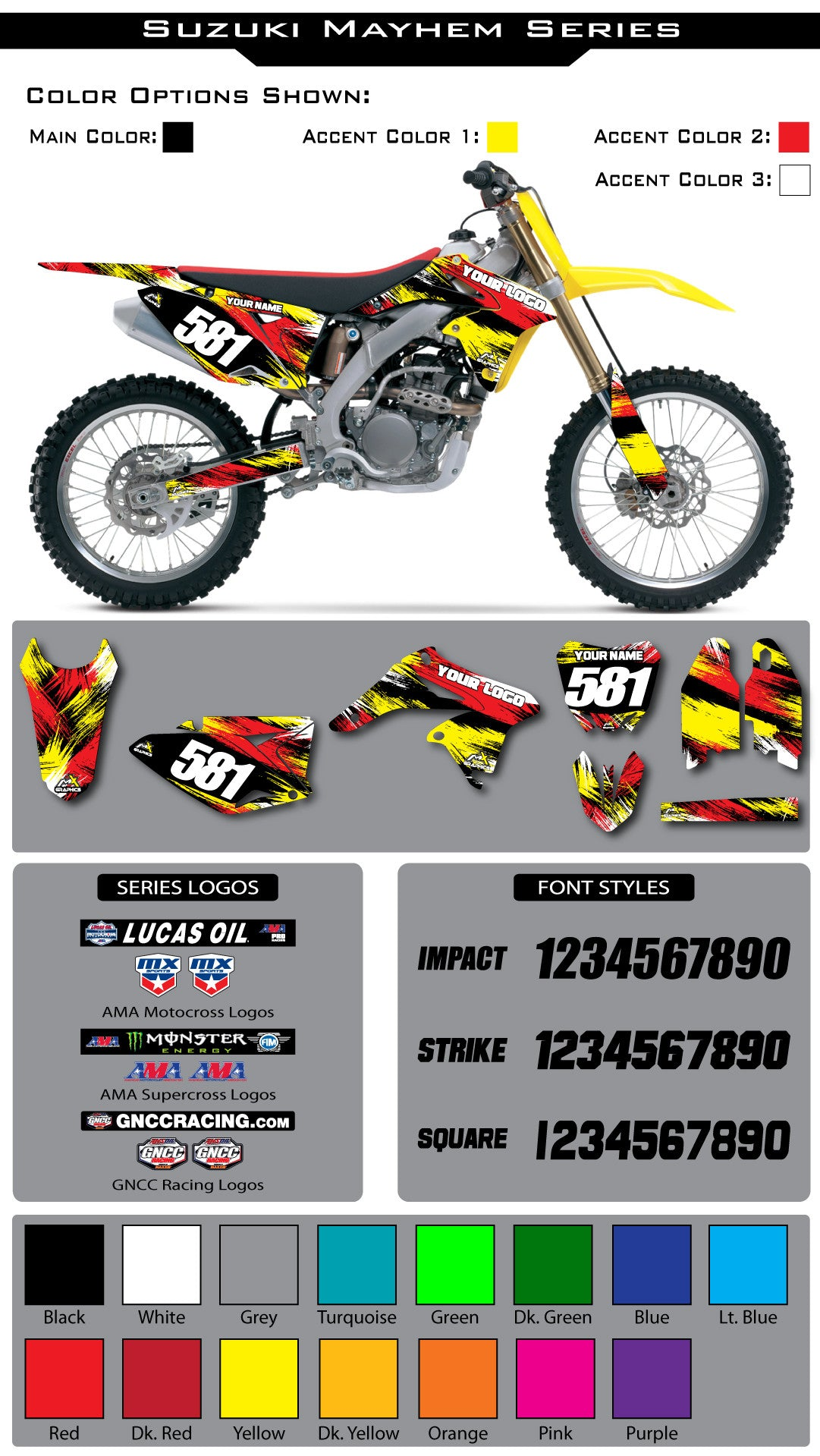 Suzuki Mayhem Graphic Kit