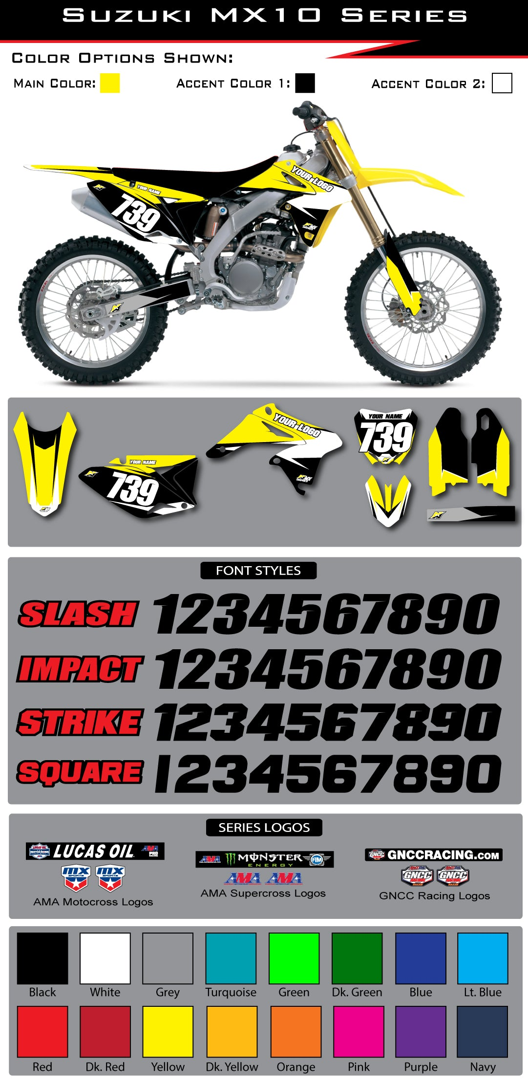 Suzuki MX 10 Graphic Kit