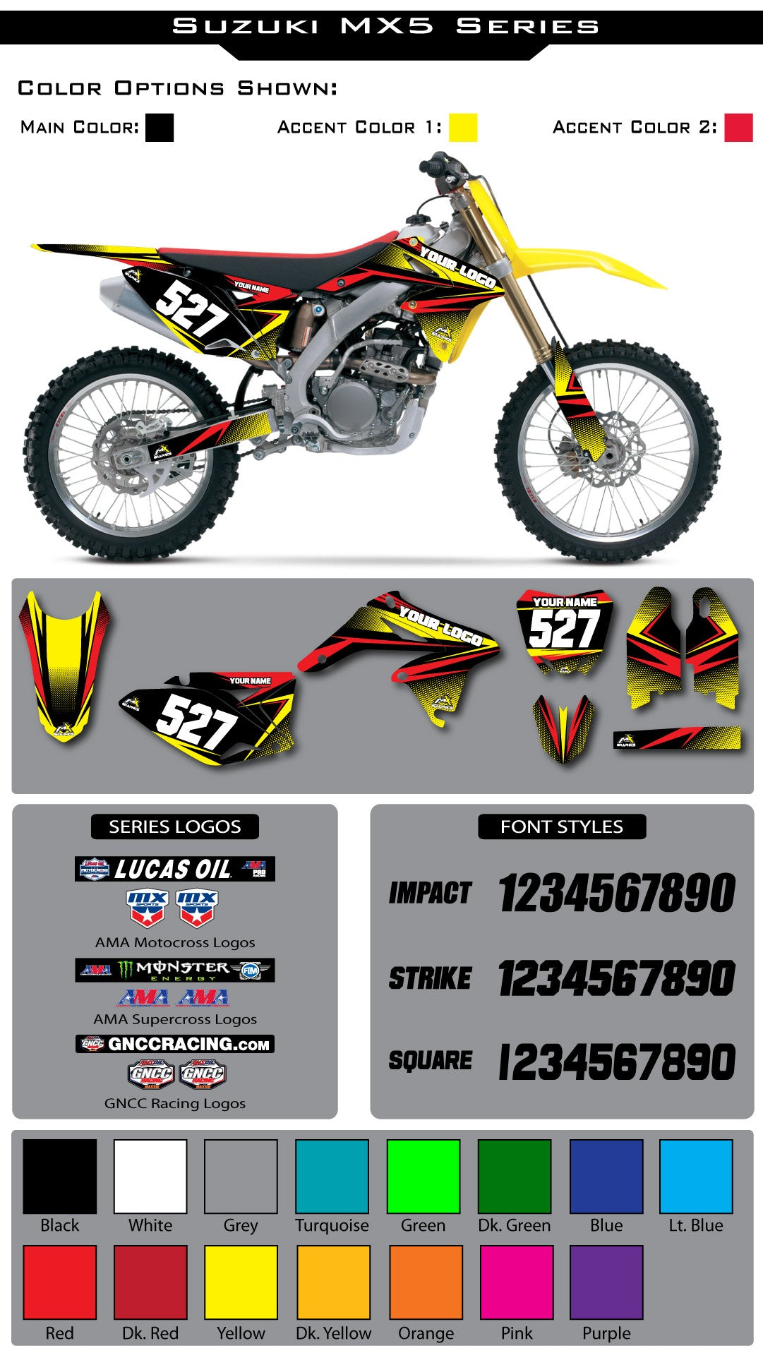 Suzuki MX 5 Graphic Kit