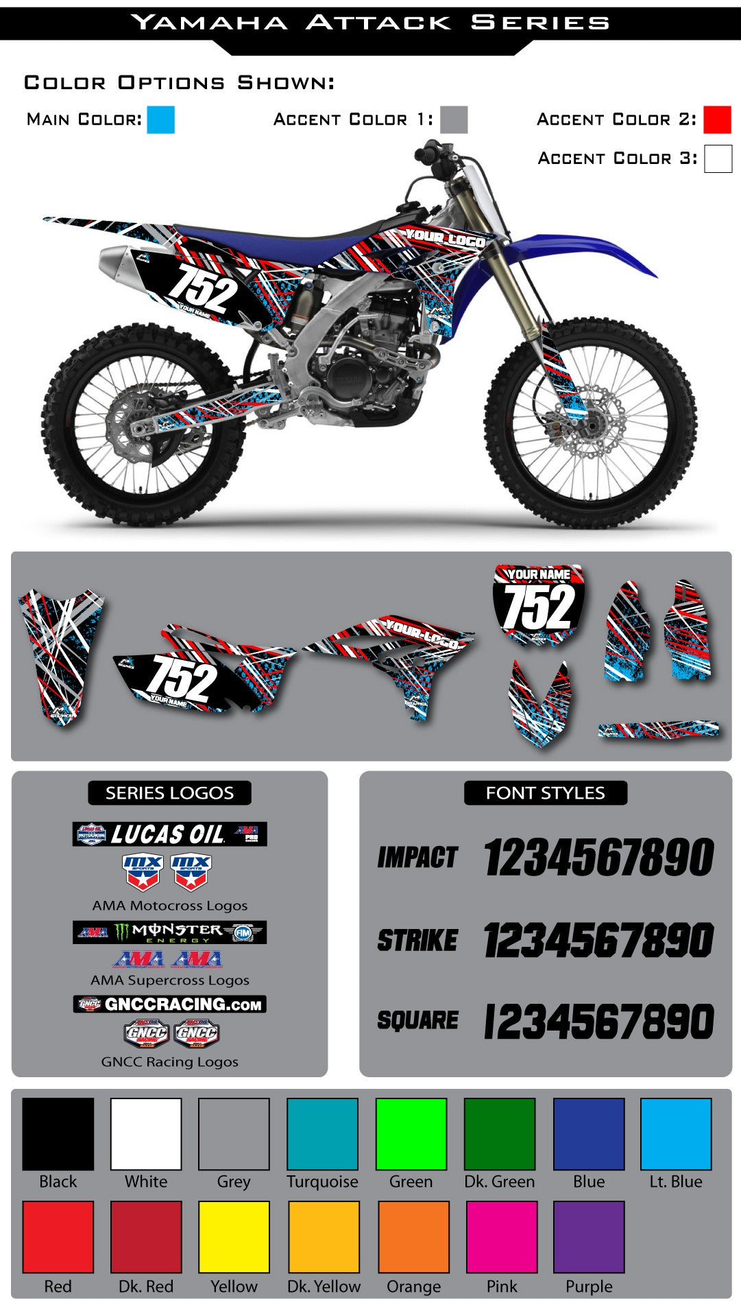 Yamaha Attack Graphic Kit