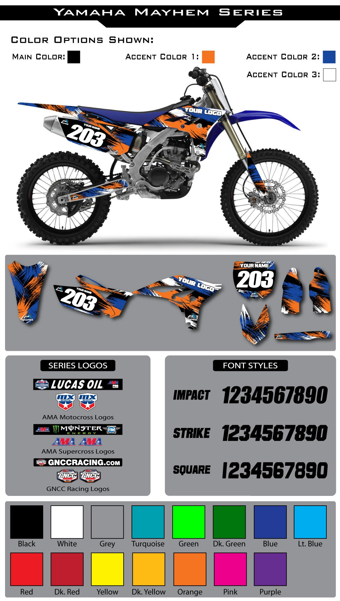 Yamaha Mayhem Graphic Kit