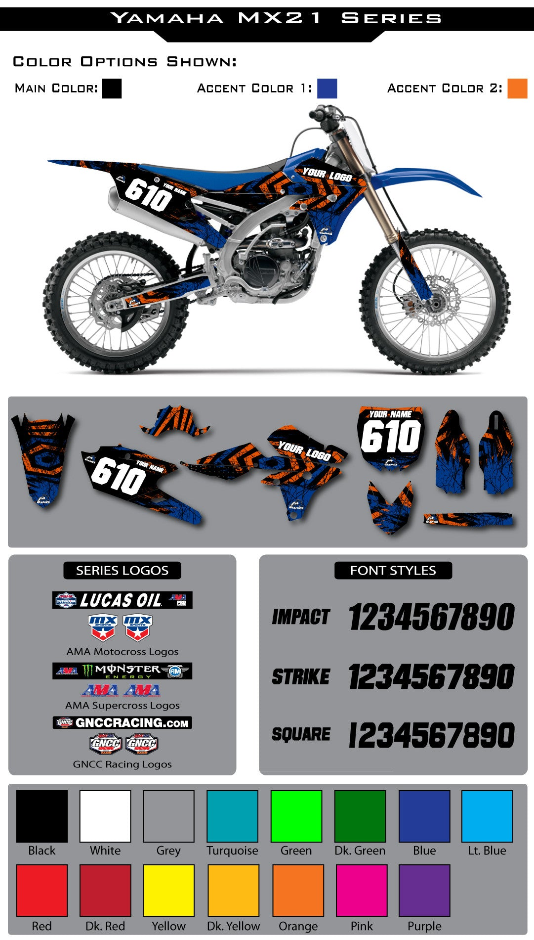Yamaha MX21 Graphic Kit