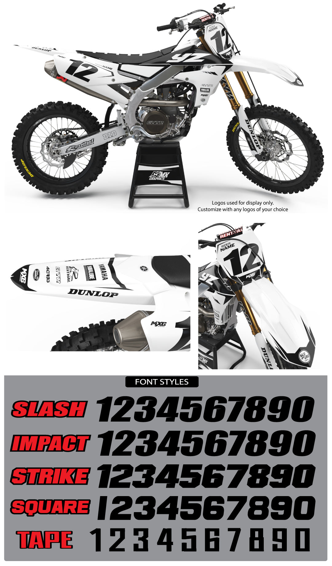 Yamaha MX27 Graphic Kit White