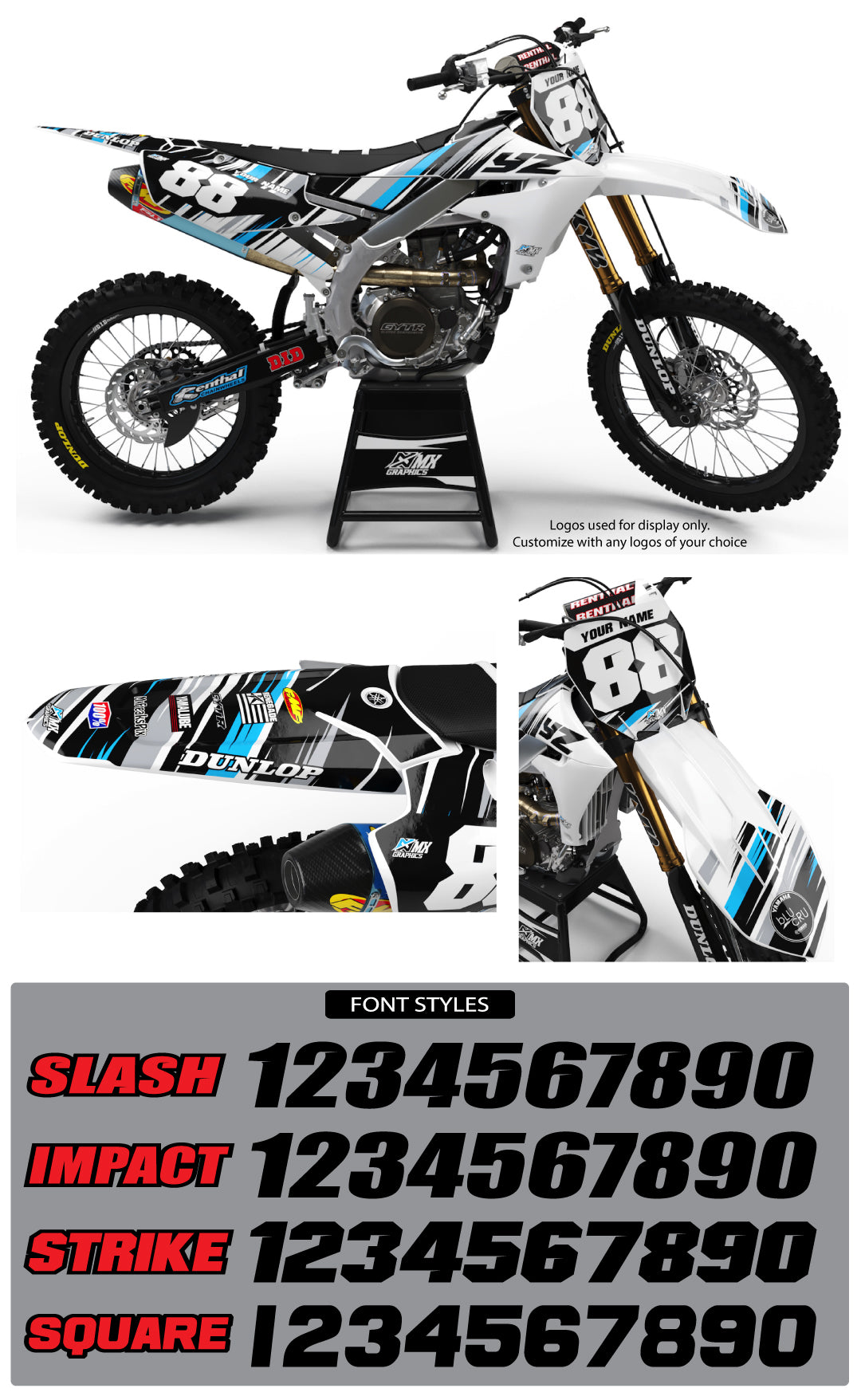 Yamaha MX9 Graphic Kit