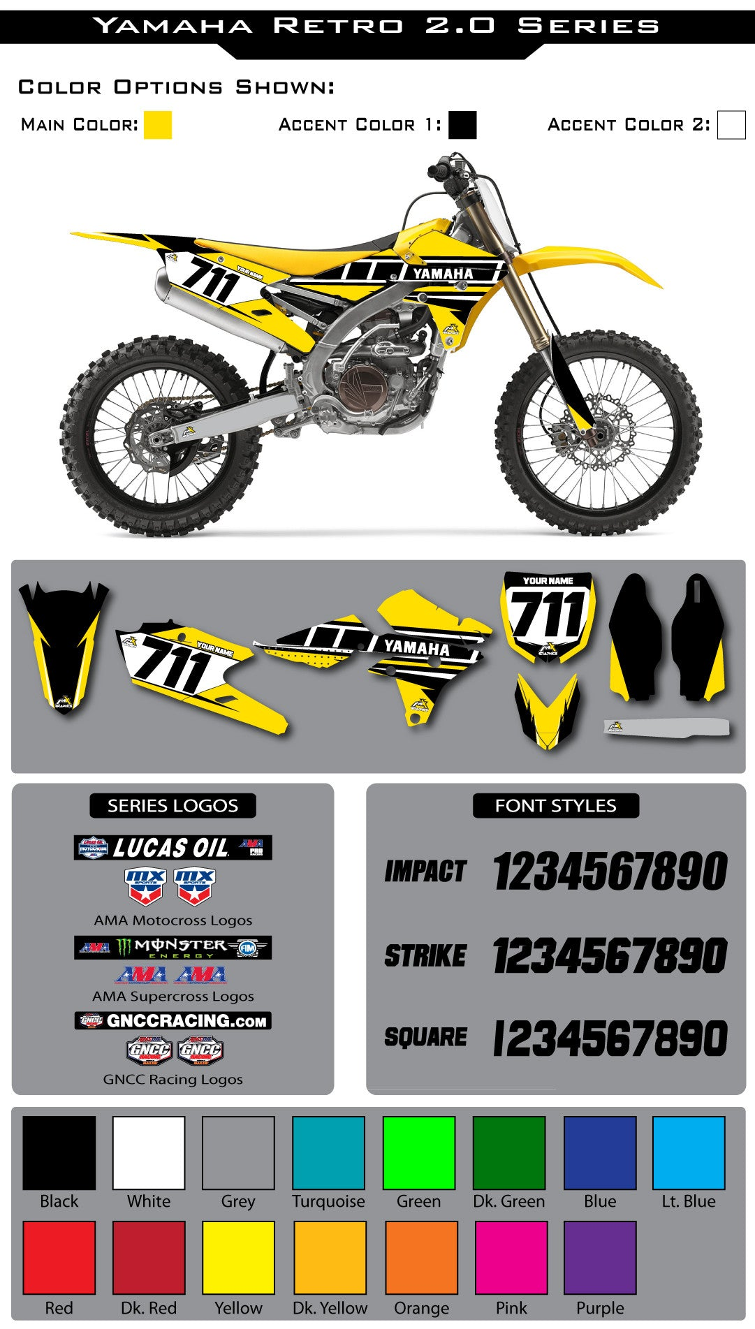 Yamaha Retro 2.0 Graphic Kit