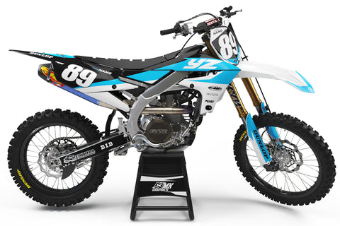 Yamaha MX23 Graphic Kit Cyan