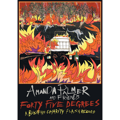 Amanda Palmer & Friends, Forty-Five Degrees: A Bushfire Charity Flash Album Poster