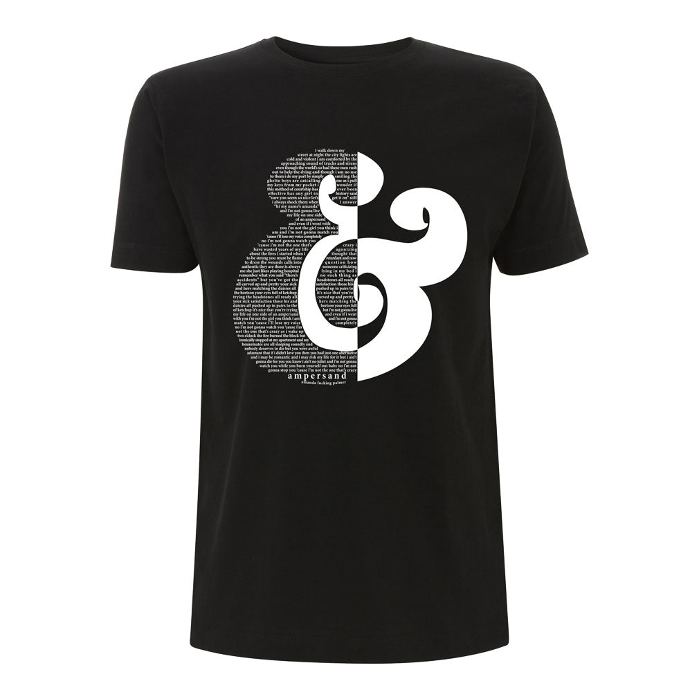 Ampersand Lyric T-Shirt - White Print - UNISEX