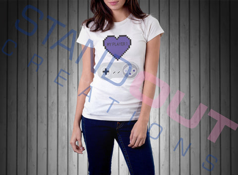 Heart My Player 1 T Shirt