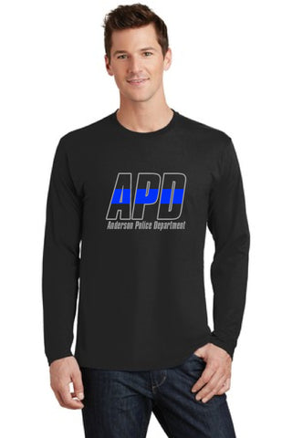 Custom Police Department Thin Blue Line Long Sleeve T Shirt