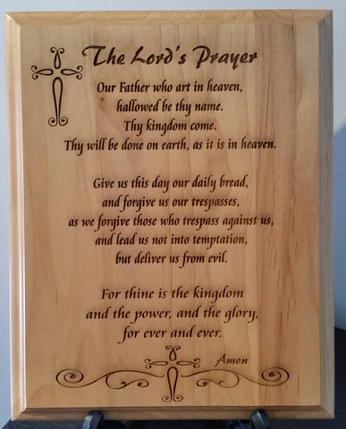 Lord's Prayer Wooden Plaque