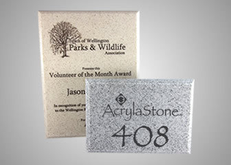 AcrylaStone Plaque