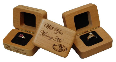 Laser Engraved Wood Ring Box