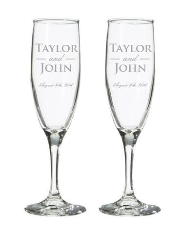 Champagne Flutes<br>(Set of 2)