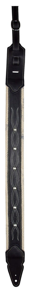 Guitar Straps - LM Products - Leather Outlaw Biker Guitar Strap - LM Products - Made in USA