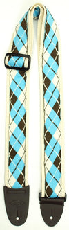 Guitar Straps - LM Products - Argyle Velvet Guitar Strap - LM Products - Made in USA