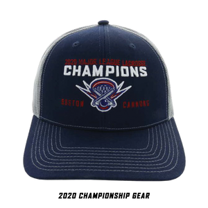 Boston Cannons 2020 Championship Trucker Hat