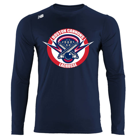 New Balance Navy Long Sleeve Tech Tee