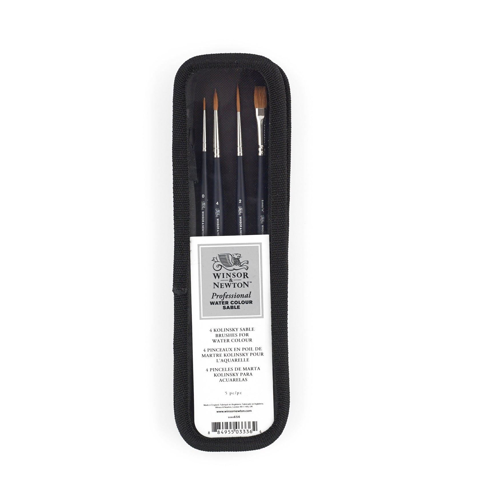 Winsor & Newtons Artists' Professional Watercolour Sable brush range is hand-made with high-quality Kolinsky sable hair. The brushes have been designed with a sculpted ergonomic handle and a matt finish for added comfort.