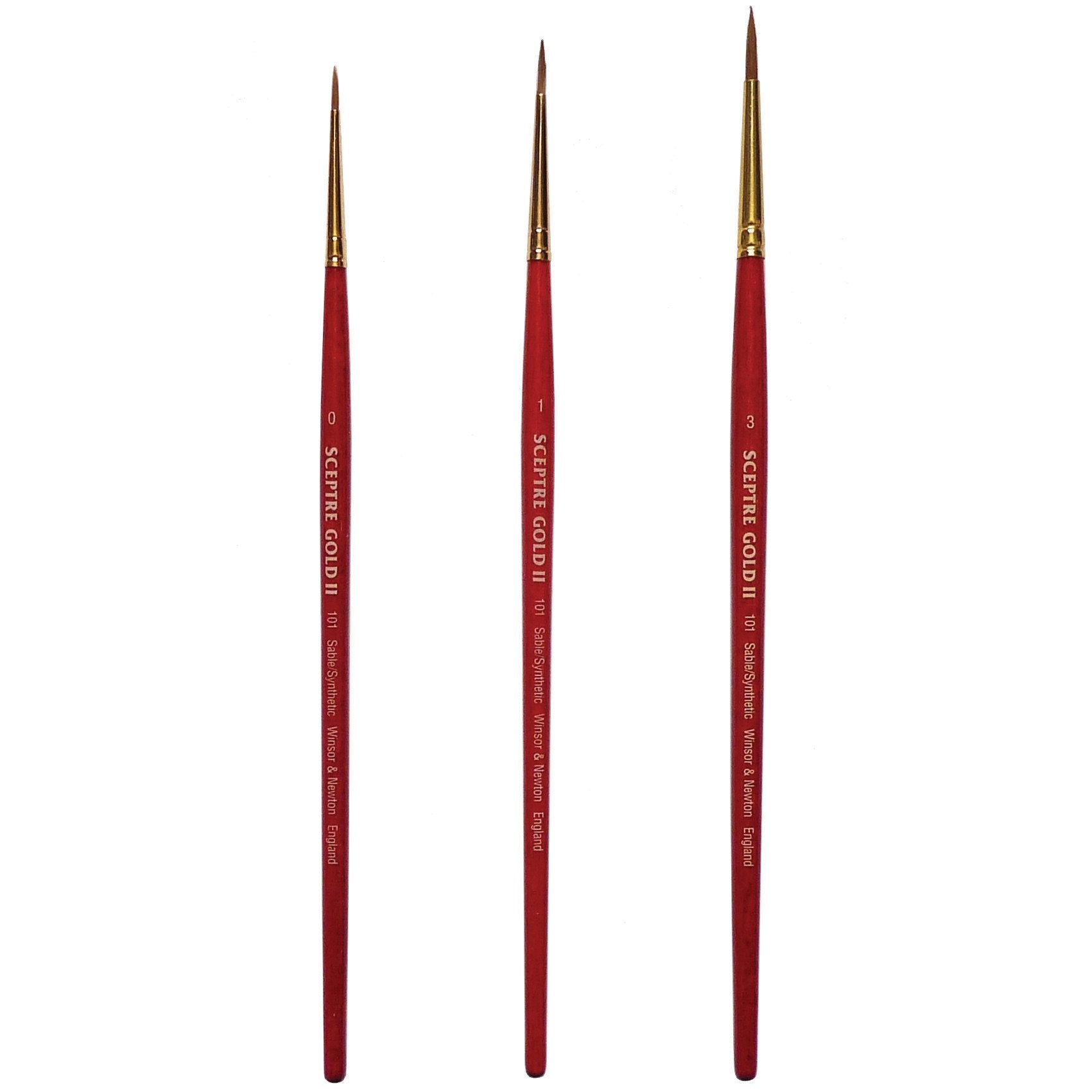 Winsor & Newton Sceptre Gold II are made from a mix of sable and synthetic fibres. A great brush for use with watercolour and fluid oil colour, acrylic, water mixable oil and alkyd fast drying oil colour.