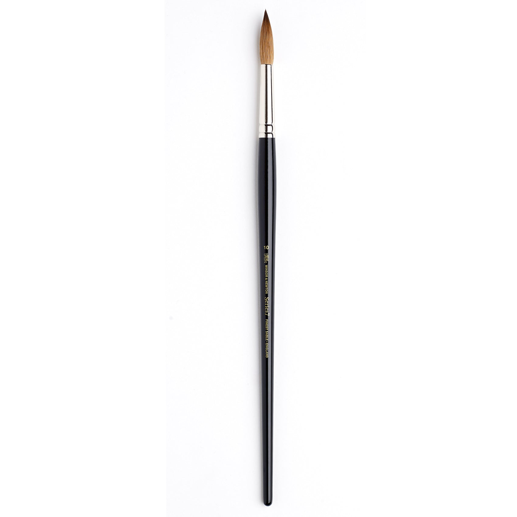 The Series 7 Kolinsky Sable Brush is considered the finest quality watercolour brush made. Winsor and Newton use only the finest Kolinsky Sable hair in rust-proof, seamless nickel-plated ferrules with black polished handles.