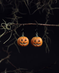 Polinacreations Handmade jewelry Glow in the Dark Halloween Pumpkin Head Earrings, Spooky Halloween jewelry Pumpkin Jack earrings Scary Halloween Earrings Witch jewelry pumpkin head jewelry spooky jewelry halloween accessory orange earrings smile jewelry pumpkin jack jewelry glow jewelry scary jewelry pumpkin head jewelry creepy jewelry Halloween gift for her gift for woman vampire jewelry polina creations