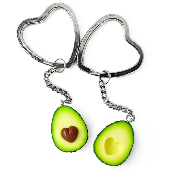 polinacreations Avocado Keychains, Valentines day gift  Best Friend Keychain Set for 2 Avocado Heart Friendship Keychains BFF Gift Fake Food LOVE Jewelry Wife Husband Gift polina creations