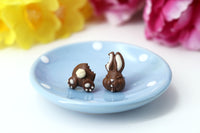 Handmade Bitten Easter Chocolate Bunny Stud Earrings. Bunny earrings. Easter Jewelry Easter bunny earrings Easter Gift bitten chocolate bunny butt polinacreations chocolate rabbit earrings polymer clay food miniature food jewelry