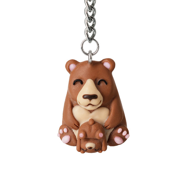 Polinacreations Mama Bear and Baby Keychain. Mothers Day Gift Mother Daughter Son Jewelry Moms Birthday Gift Moms Day Key Ring Teddy bear Jewelry Pet Gifts