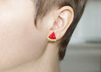 Handmade Watermelon Stud Earrings