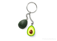 Handmade Single Ring Avocado Keychain, Valentine's day gift