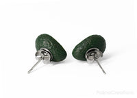 Handmade Avocado Heart Stud Earrings, Valentine's day gift