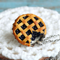 Polinacreations Handmade Jewelry blueberry Pie Pendant blueberry Pie Necklace,Miniature Food Jewelry blueberry Jewelry blue Necklace blue charm blue jewelry blue necklace Fake food jewelry mini food charm pie charm circle necklace orange circle charm pastry jewelry pastry charm gift for her gift for woman bottle cap jewelry berry necklace berry charm fruit jewelry fruit necklace