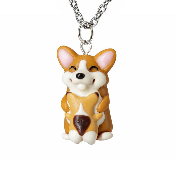 Polinacreations Mothers Day Gift Mama Corgi and Baby Necklace. Mothers Day Gift Necklace Corgi Dog Gift, Corgi Necklace Polymer clay Corgi Jewelry Polina creations
