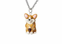 Mothers Day Gift Mama Corgi and Baby Necklace. Mothers Day Gift Necklace Corgi Dog Gift, Corgi Necklace Corgi Jewelry Polymer clay jewelry
