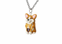 Mothers Day Gift Mama Corgi and Baby Necklace. Mothers Day Gift Necklace Corgi Dog Gift, Corgi Necklace Corgi Jewelry Polina creations Polymer clay necklace