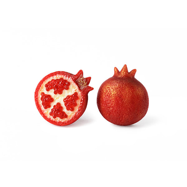 Handmade Pomegranate Stud Earrings