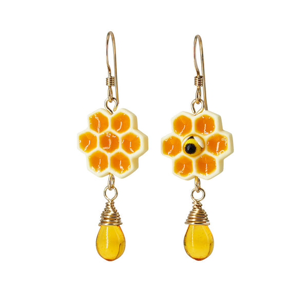 Handmade Honeycomb Earrings