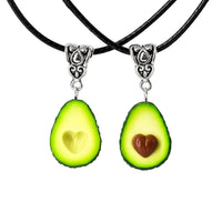 Handmade Best Friend Forever Avocado Heart Necklaces, Valentine's day gift