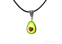 Handmade Avocado Heart Necklace, Valentine's day gift