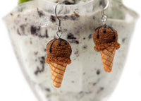 polinacreations Handmade jewelry chocolate Ice Cream Waffle Cone Earrings, Ice Cream Earrings chocolate Earrings chocolate jewelry waffle Jewelry waffle earrings Fake Food Earrings miniature food jewelry mini food earrings food charm brown jewelry brown earrings gift for her polymer clay jewelry ice cream charm summer jewelry